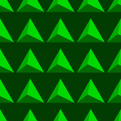 Abstract geometric green 3d triangle shape background