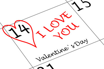 Valentin`s Tag Ich Liebe dich mit Herz