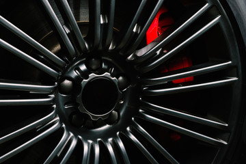 Car detailing series: Clean luxury car wheel