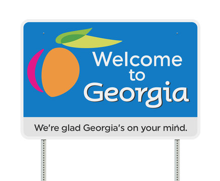 Welcome to Georgia road sign