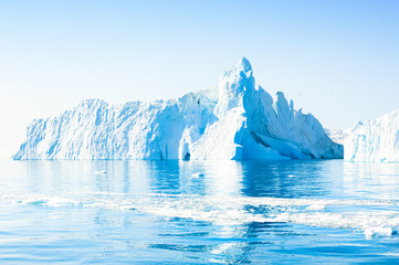 Big iceberg in Ilulissat icefjord, western Greenland