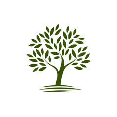 Logo tree. ecology, Nature icon or symbol. Vector illustration