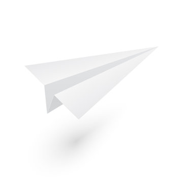 Mock up paper origami airplane