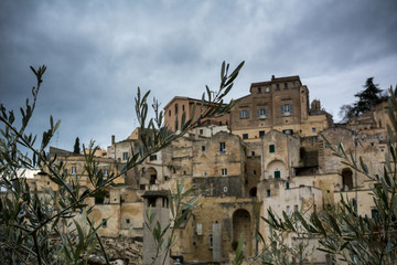 Horizontal View of the City of Matera