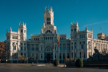 Wall Mural - The Palacio de Cibeles, in Madrid, Spain