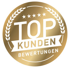 goldener Button Top Kundenberwertungen