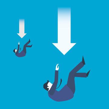 Firing employees. Mass unemployment. Business Concept Art