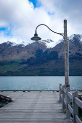 Wharf on Lake Wakatipu, Glenorchy, South Island, New Zealand