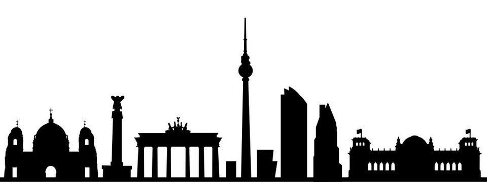 Berlin city silhouette - stock vector