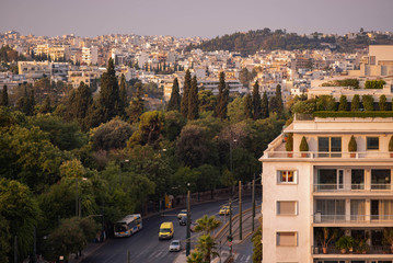 an aerial view of a luxury apartment building in Athens, Greece