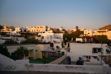 The skyline of a greek village