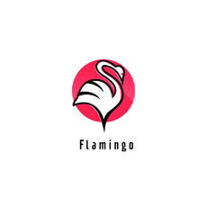 Flamingo logo design Vector Image