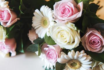 Rose bouquet at a wedding