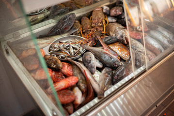 mediterranean fish at a restaurant