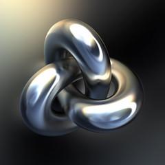 Metallic intricate shape