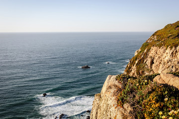 Panoramic view of the cliffs of Cabo da Roca