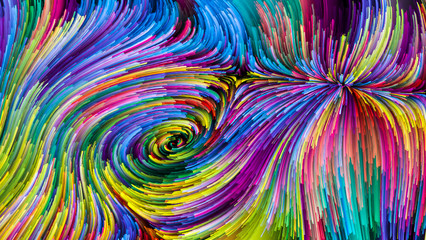 Magic of Colorful Paint