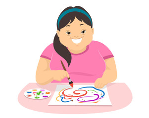 Teen Girl Down Syndrome Painting Hobbies