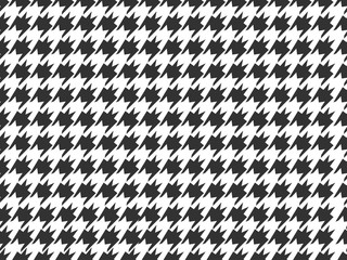 Houndstooth Check Pattern Seamless Background