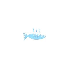 Logo grilled fish restaurant