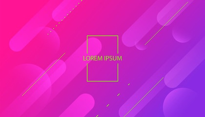 Colorful Background with Simple Fluid Shapes. Holographic Colour Gradient. Cool Abstract Background. Vector Illustration.