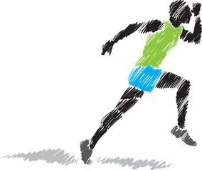 runner brush illustration