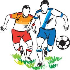 football players illustration (2)