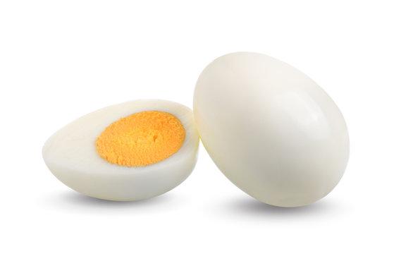 boiled egg isolated on white background