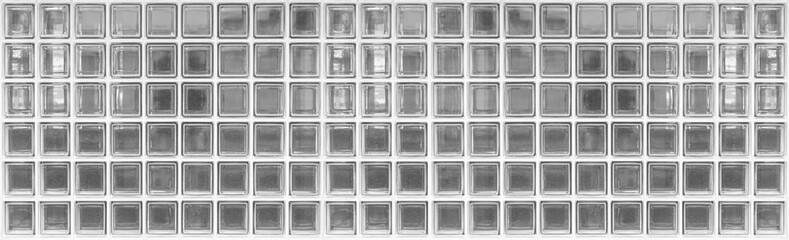 Panorama of glass block wall pattern and seamless background