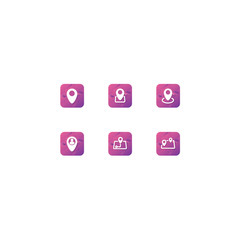 modern web or mobille location notification vector icon