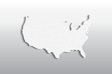 Vector USA map logo icon image