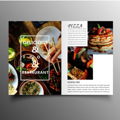 Business brochure template for annual report