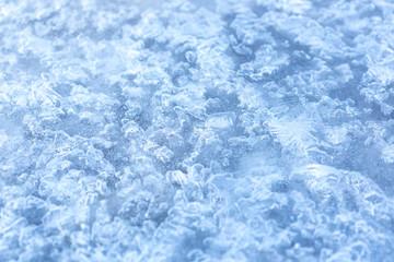 winter blue background frozen lake