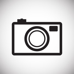 Photo camera icon set on white background for graphic and web design, Modern simple vector sign. Internet concept. Trendy symbol for website design web button or mobile app