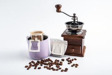 Over the ear type follicular coffee / portable coffee bag