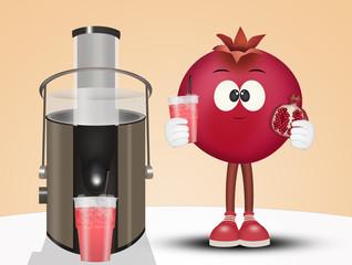 illustration of pomegranate centrifuge