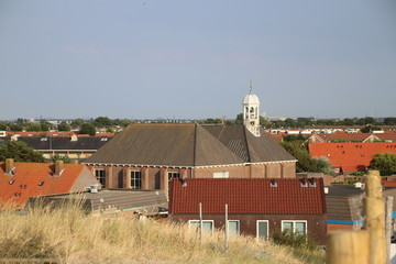 Village of Ter Heijde close to Den Haag in the dunes at the North Sea coast.