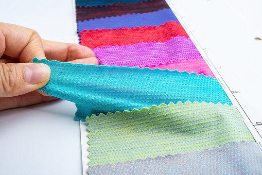 Underwear sportswear swimming trunks stretch fabric color card / hand stretch fabric