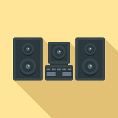Stereo system icon. Flat illustration of stereo system vector icon for web design
