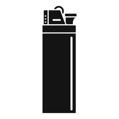 Cigarette lighter icon. Simple illustration of cigarette lighter vector icon for web design isolated on white background