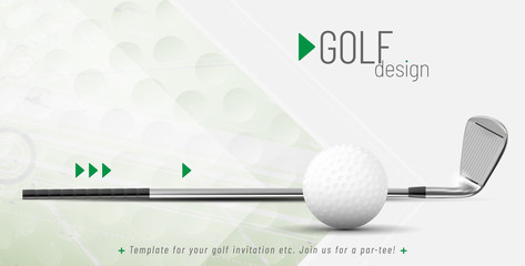 Template for your golf design with sample text Wall mural