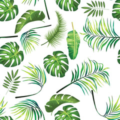tropical design leaf pattern background