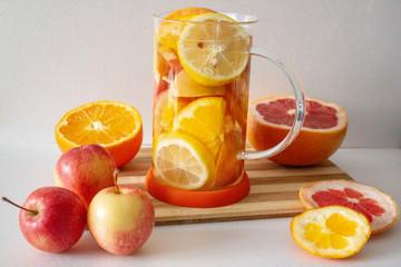 Fresh and healthy vitamin C tea