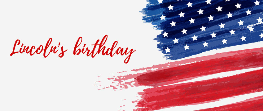 Lincoln's birthday holiday background