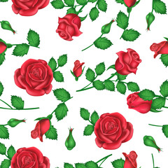 Valentines day background with roses for decoration