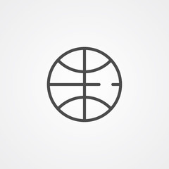 Basketball ball vector icon sign symbol