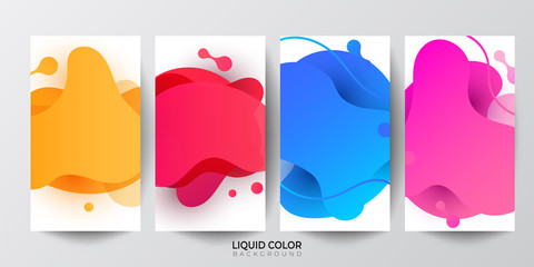 Dynamic liquid shapes. Set of Phone payment