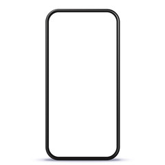 Smart Phone vector illustration with white blank screen