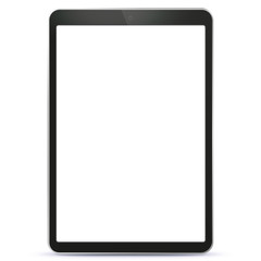 Black Tablet Computer With Blank Screen Vector Illustration