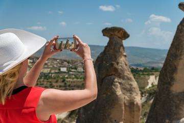 Woman traveling in Turkey